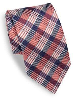 Isaia Plaid Silk Tie