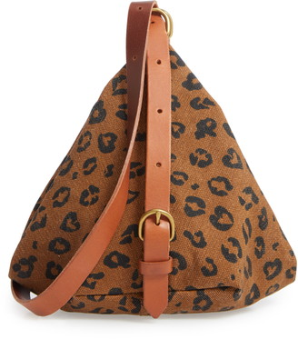 Madewell The Canvas Leopard Love Sling Bag