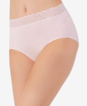Vanity Fair Flattering Cotton Lace Stretch Brief Underwear 13396, also available in extended sizes