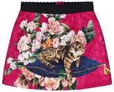 Dolce & Gabbana Pink Zambia Brocade Skirt