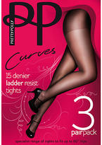 Pretty Polly Curves Tights Plus Size 3-Pack