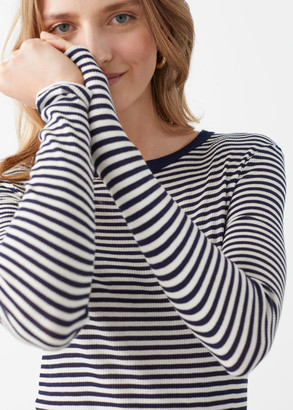And other stories Striped Long Sleeve Top