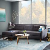 west elm Crosby Mid-Century 2-Piece Chaise Sectional - Shale (Pebble Weave)