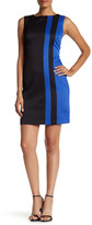 Ellen Tracy Colorblock Sleeveless Pique Shift Dress
