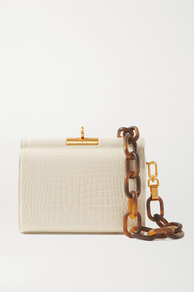 Gu_de Gemma Croc-effect Leather Tote - Ivory