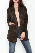 Baci Distressed Camo Jacket