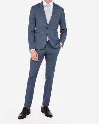 Express Extra Slim Blue Stripe Wrinkle-Resistant Stretch Suit Pant