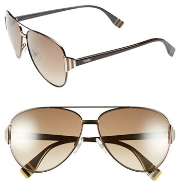 Fendi 60mm Aviator Sunglasses