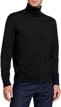 Tom Ford Men's Long-Sleeve Turtleneck Merino Wool Sweater