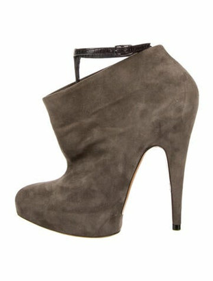 Givenchy Suede Boots Grey