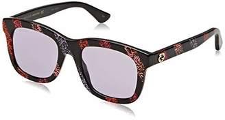 Gucci Unisex Adults' GG0326S-004 Sunglasses, Black (Negro/Multicolor)