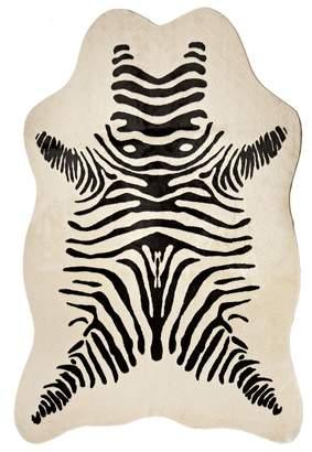 Donna Salyers'' Fabulous-Furs Donna Salyers Fabulous Furs Faux Fur Hide Large Zebra Rug - Black/Ivory Zebra