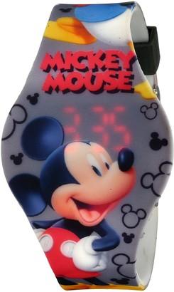 Disney Kids' MCH3401 Mickey Mouse Digital Display Analog Quartz Grey Watch