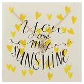 """Charlotte Women's Greeting Card and Necklace Set """"You Are My Sunshine"""""""