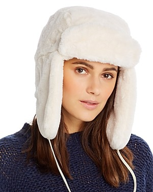Aqua Faux Fur Trapper Hat - 100% Exclusive