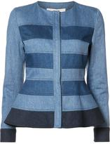 Carolina Herrera denim peplum jacket