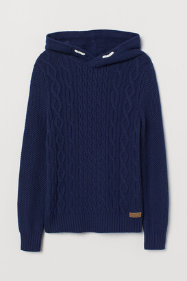 H&M Cable-knit Hoodie