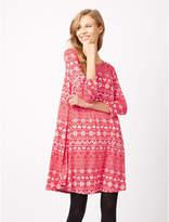 George Christmas Fairisle Print Dress