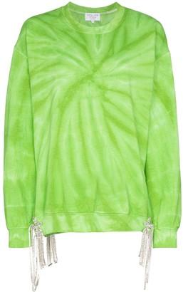 Collina Strada Tie-Dye Crystal Accent Sweatshirt