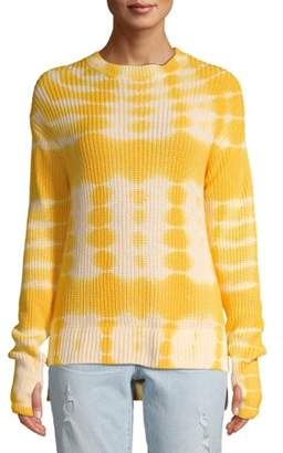 Time and Tru Women's Tie Dye Hi Lo Sweater