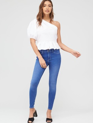 River Island Mid Rise Molly Jegging - Blue