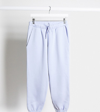 ASOS DESIGN Petite mix and match co-ord oversized jogger in dusty blue