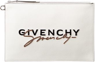 Givenchy Signature Logo Leather Pouch