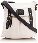 Henley Womens Amy Cross-Body Bag Beige Black