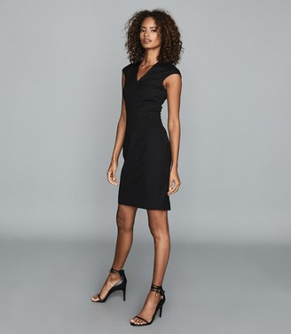 Reiss HAYES TAILORED DRESS Black
