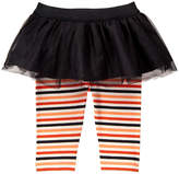 Gymboree Black & Orange Stripe Harvest Tutu Leggings - Infant