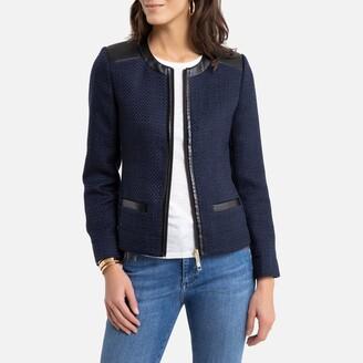 Anne Weyburn Tweed Short Fitted Jacket