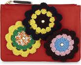 Jw Anderson Knitted Flower Leather Pouch
