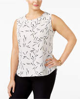 Anne Klein Plus Size Geometric-Print Shell
