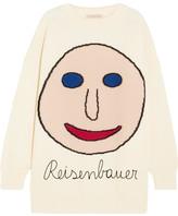 Christopher Kane Oversized Intarsia Wool-blend Sweater - White