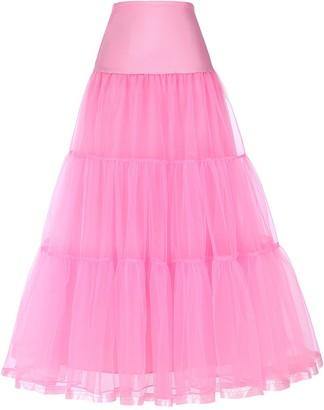 Jack Smith Ankle Length Bridal Wedding Long Dress Slips Underskirts JS0421-1 S Black
