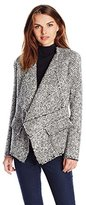 Karen Kane Women's Raw Edge Boucle Jacket