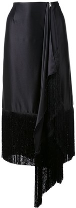 Marques Almeida Fringed Asymmetric Skirt