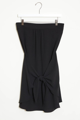 A Love Like You Strapless Tie Front Mini Dress Black XS
