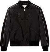 Gucci Appliquéd Wool and Mohair-Blend Souvenir Jacket