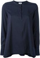 Brunello Cucinelli one button pleated blouse - women - Silk/Spandex/Elastane - S