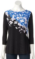 Croft & Barrow Women's Boatneck Jacquard Top