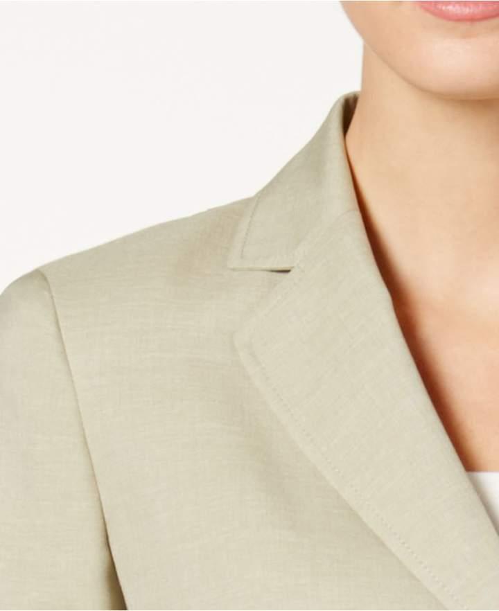 Le Suit Mélange Two-Button Pantsuit