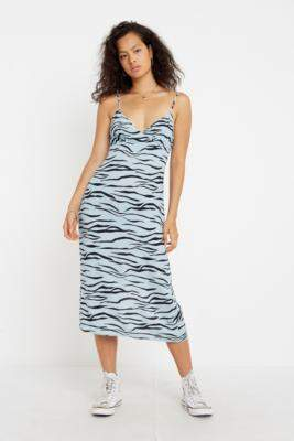 Urban Outfitters The East Order Camille Animal Print Midi Dress - assorted XS at