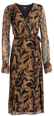 Paige Chamomile Print Silk Midi Dress