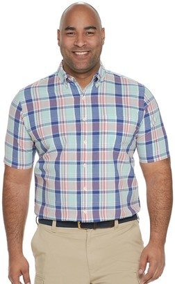 Croft & Barrow Big & Tall Classic-Fit Seersucker Button-Down Shirt