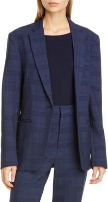 Co Check Wool & Silk Jacket