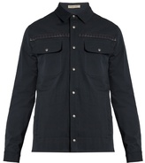 Bottega Veneta Intrecciato Leather-trimmed Cotton Jacket