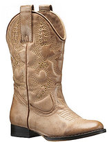 Volatile Grit Girls' Studded Intricately Stitched Pull On Western Boots
