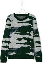 John Richmond Kids Teen camouflage jumper