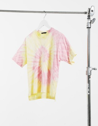 Only short sleeve boxy T-shirt in tie-dye
